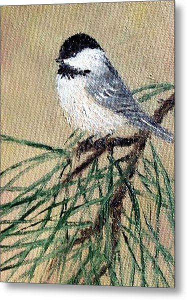 Chickadee Set 17 Bird 2 Detail Print Metal Print