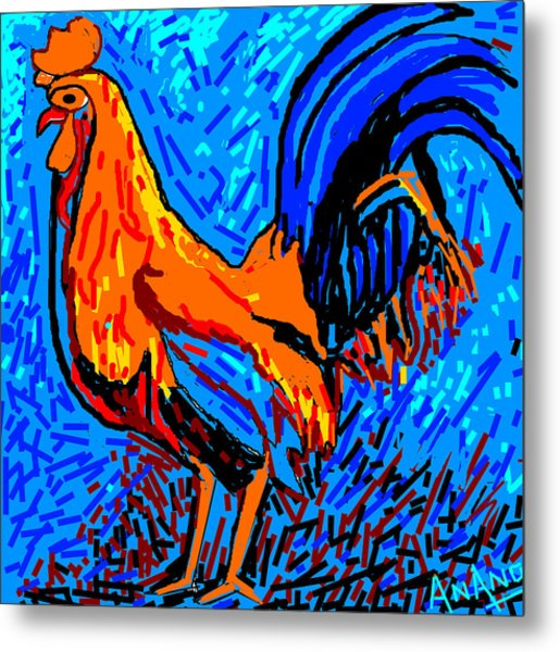Chicken-5 Metal Print by Anand Swaroop Manchiraju