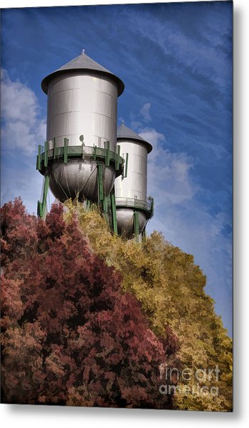 Chico Water Towers Metal Print