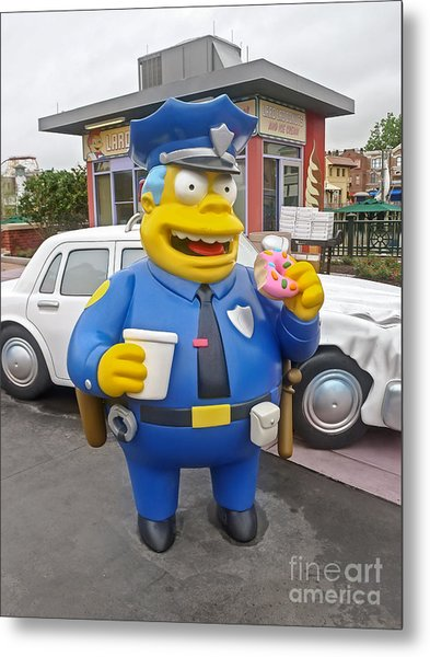 Chief Clancy Wiggum From The Simpsons Metal Print