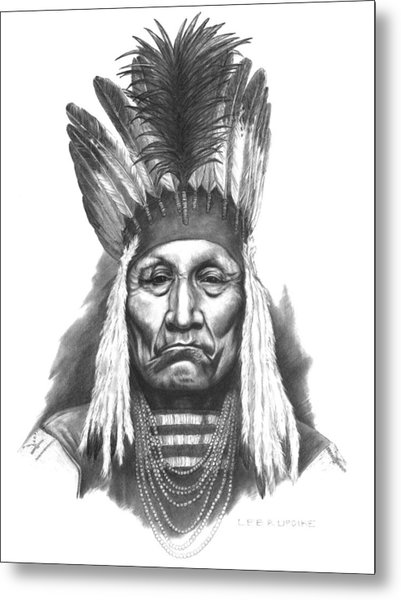 Chief Curly Bear Metal Print