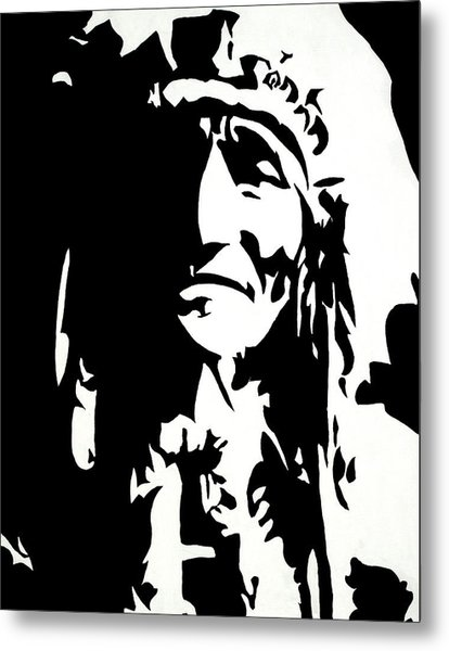 Chief Half In Darkness Metal Print by HJHunt