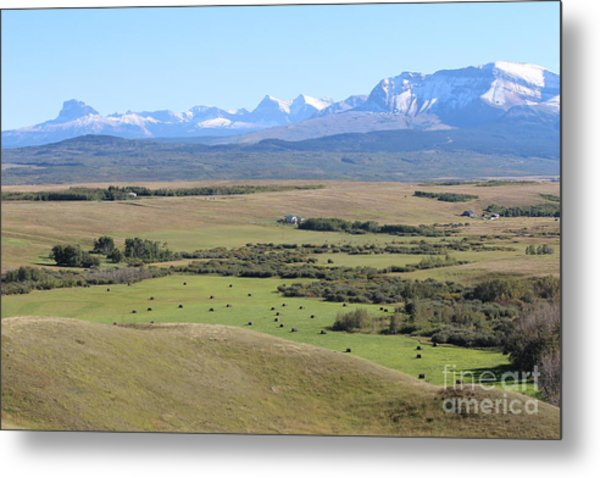 Chief Mountain Metal Print