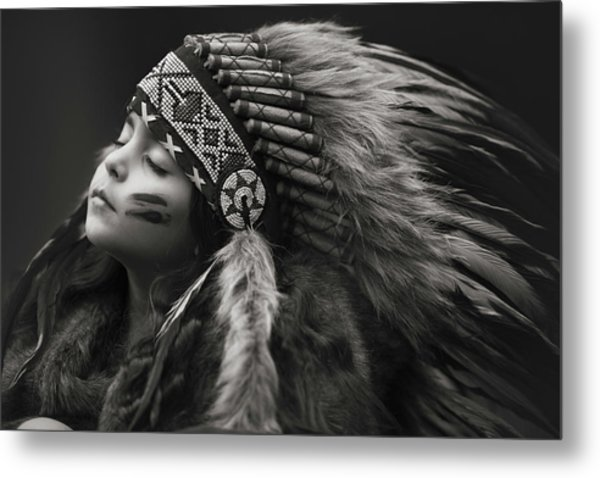 Chief Of Her Dreams Metal Print