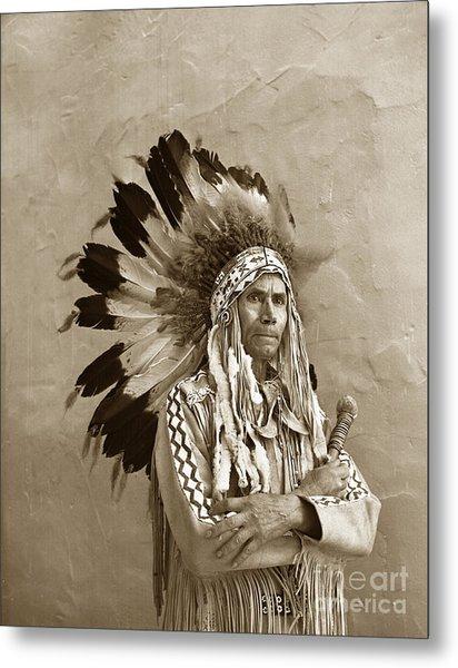 Chief Red Eagle Carmel California Circa 1940 Metal Print