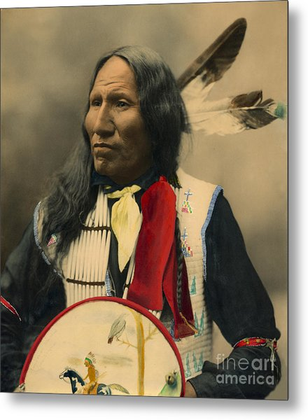 Metal Print featuring the photograph Chief Strikes With Nose 1899 by Heyn