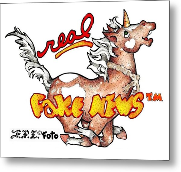 Real Fake News Fpi Foto Metal Print