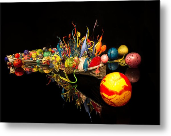 Chihuly Float Boat Metal Print