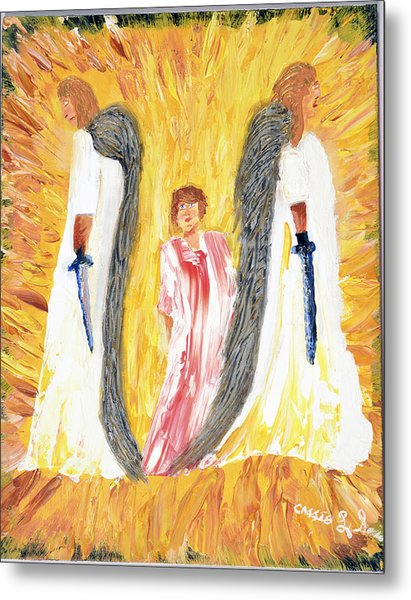 Child Being Escorted Into Heaven Metal Print