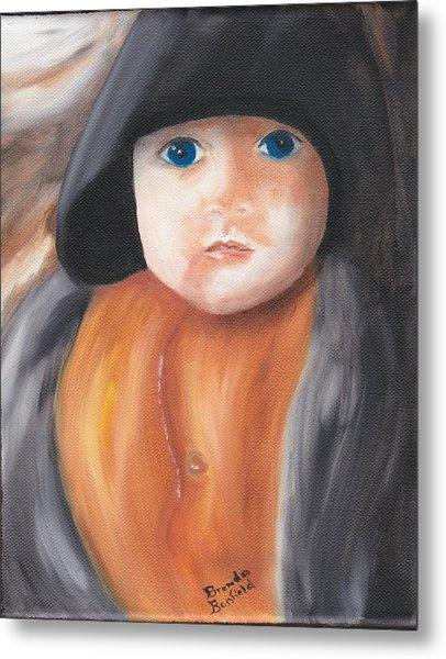 Child With Hood Metal Print