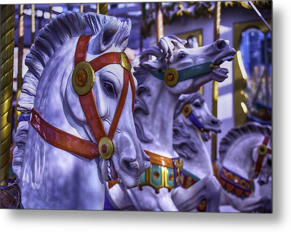 Childhood Horses Metal Print