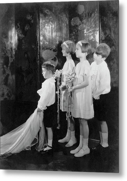 Children In A Wedding Procession Metal Print