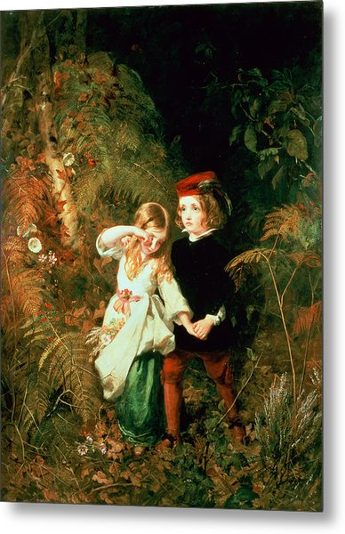 Children In The Wood Metal Print