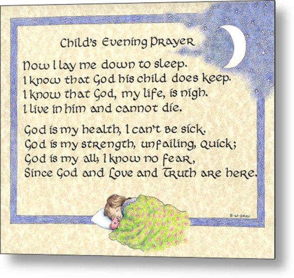 Child's Evening Prayer Metal Print