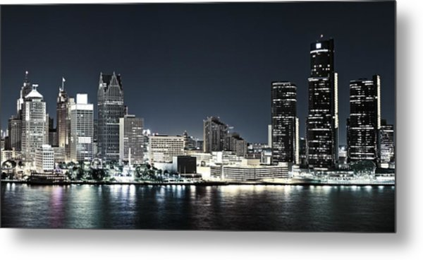 Chilled Detroit Skyline  Metal Print