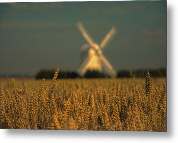 Chillenden Windmill Metal Print