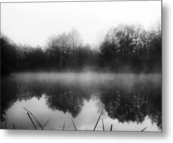 Chilly Morning Reflections Metal Print