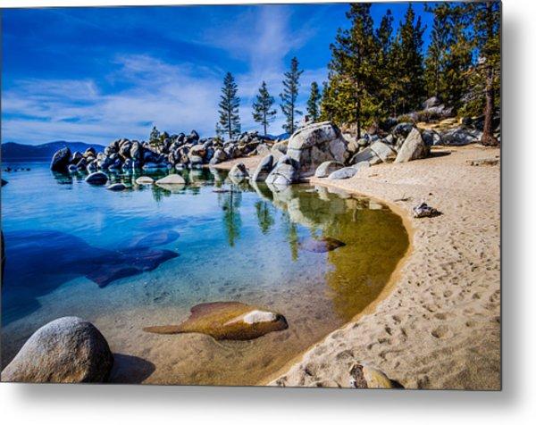 Chimney Beach Lake Tahoe Shoreline Metal Print