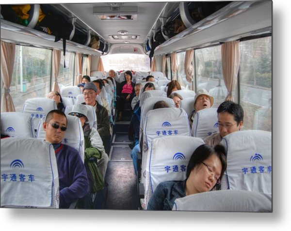 China Bus Ride  Metal Print