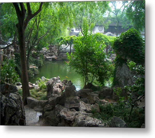 China Garden Metal Print