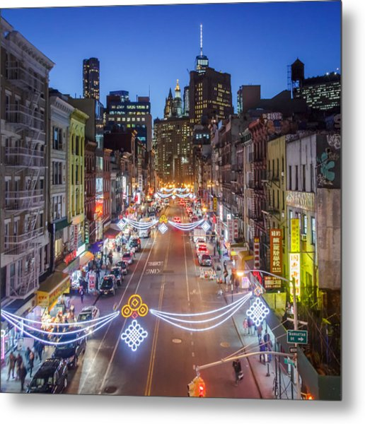 China Town Nyc  Metal Print