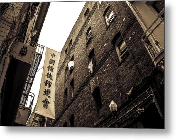 Chinatown Alley Metal Print