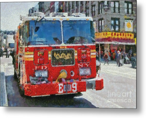Chinatown Dragonfighters Metal Print