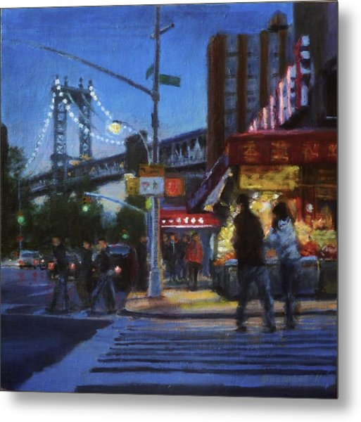 Chinatown Nocturne Metal Print