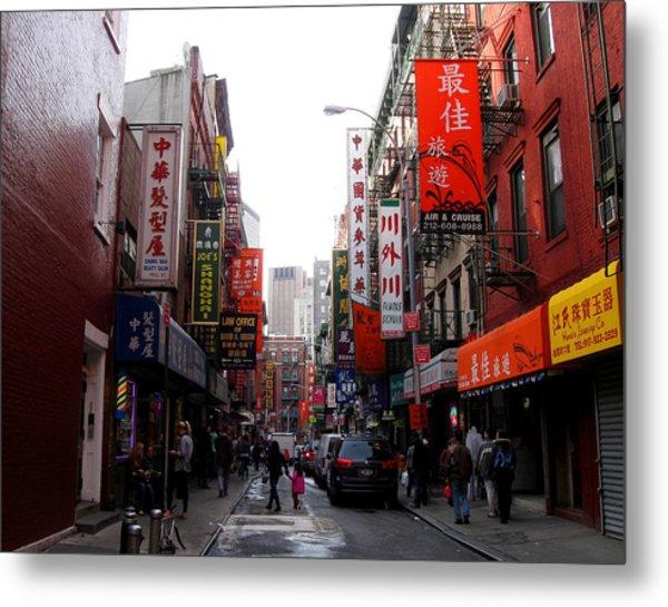 Chinatown Ny Metal Print