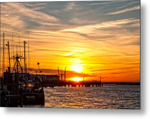Chincoteague Bay Sunset Metal Print