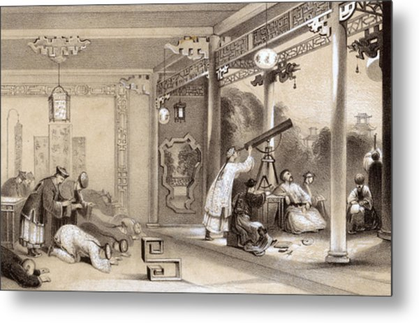 Chinese Ceremonies Performed  When An Metal Print by Mary Evans Picture Library