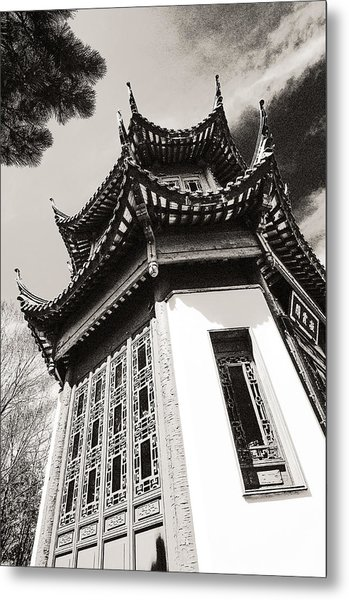 Chinese Garden In Montreal Metal Print