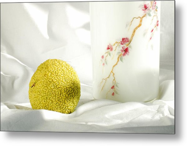 Chinese Orange. With A Vase Metal Print
