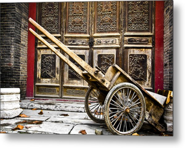 Chinese Wagon In Color Xi'an China Metal Print