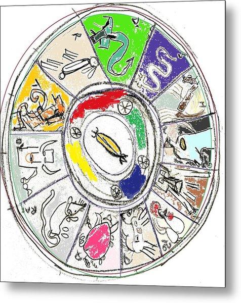 Chinese Zodiac Metal Print