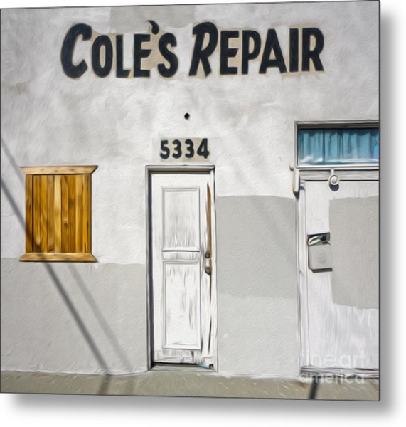Chino - Coles Repair Metal Print by Gregory Dyer