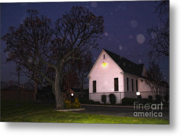 Chino Old School House At Night- 01 Metal Print by Gregory Dyer