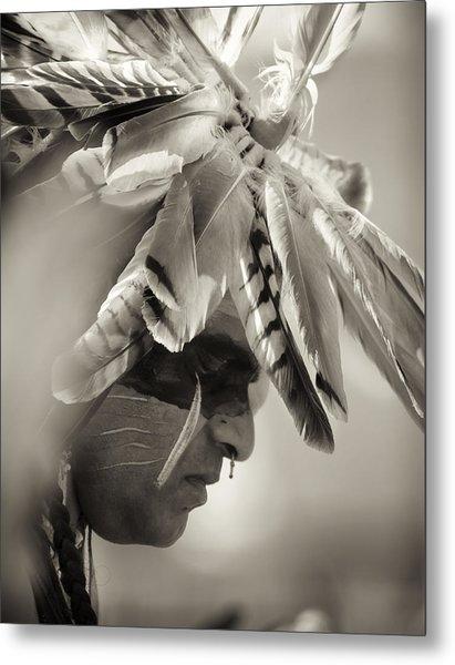 Chippewa Indian Dancer Metal Print by Dick Wood