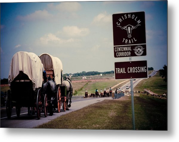 Chisholm Trail Centennial Cattle Drive Metal Print