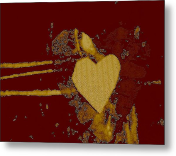 Chocolate-heart Metal Print by Dorothy Rafferty