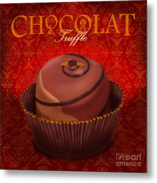 Chocolate Truffle Metal Print