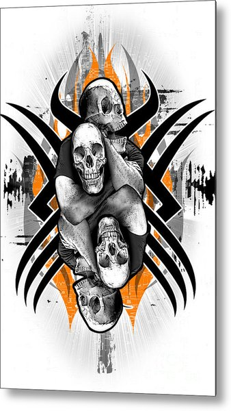 Choke Hold Metal Print