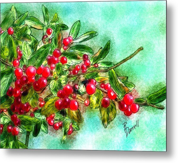 Chokecherry Branch Metal Print