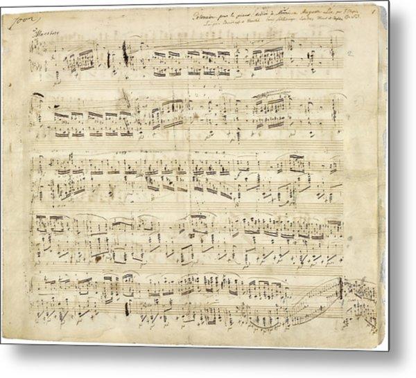 Chopin Polonaise Op 53 Metal Print