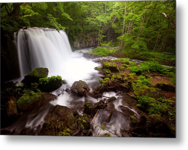 Choushi - Ootaki Waterfall In Summer Metal Print