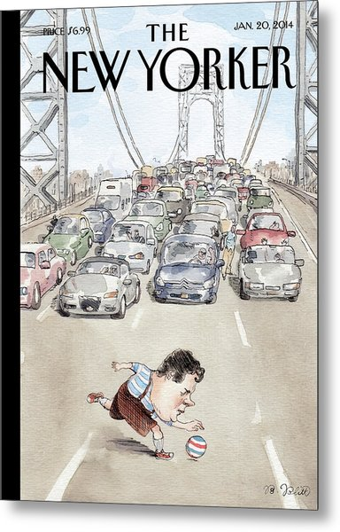 Playing In Traffic Metal Print by Barry Blitt