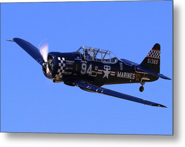 Chris Lefave In His North American Snj-4 Midnight Express At Reno Air Races  Metal Print by John King