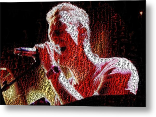 Chris Martin - Montage Metal Print