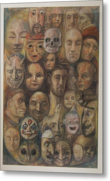 Christ And The Masks Metal Print
