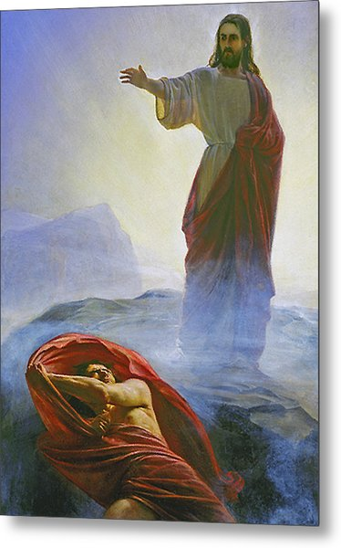 Christ Rebuking Satan Metal Print